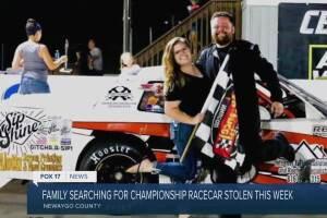 Racecar stolen along with trailer