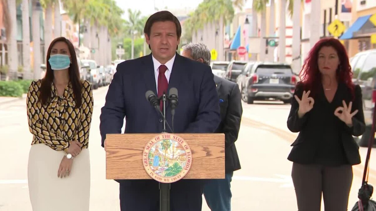 Gov. Ron DeSantis says he will reopen Broward and Miami-Dade counties