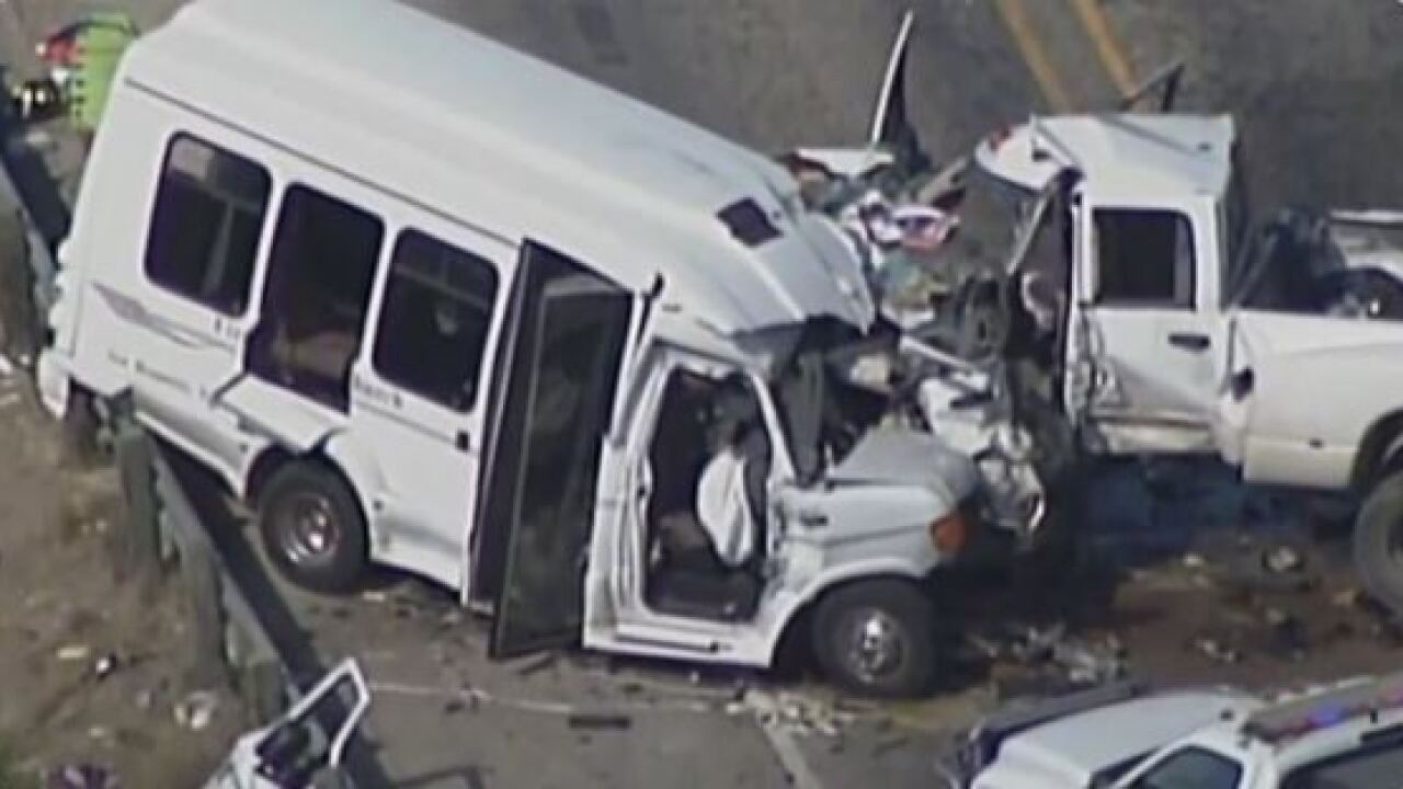 At least 12 dead, 3 injured after church bus collides with pickup truck in Texas