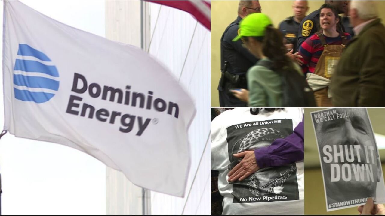 Amid protests, state board approves compressor permit for Dominion's Atlantic Coast Pipeline