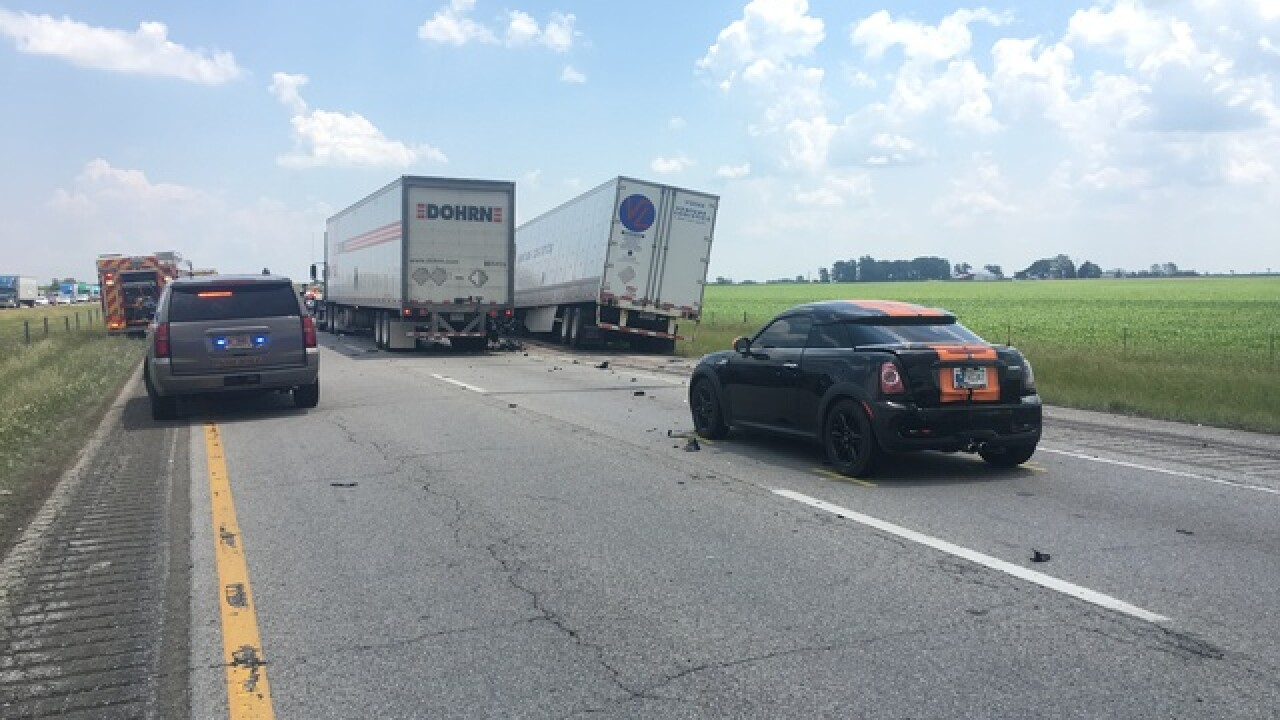 Deadly crash closes I-70 east in Hancock County