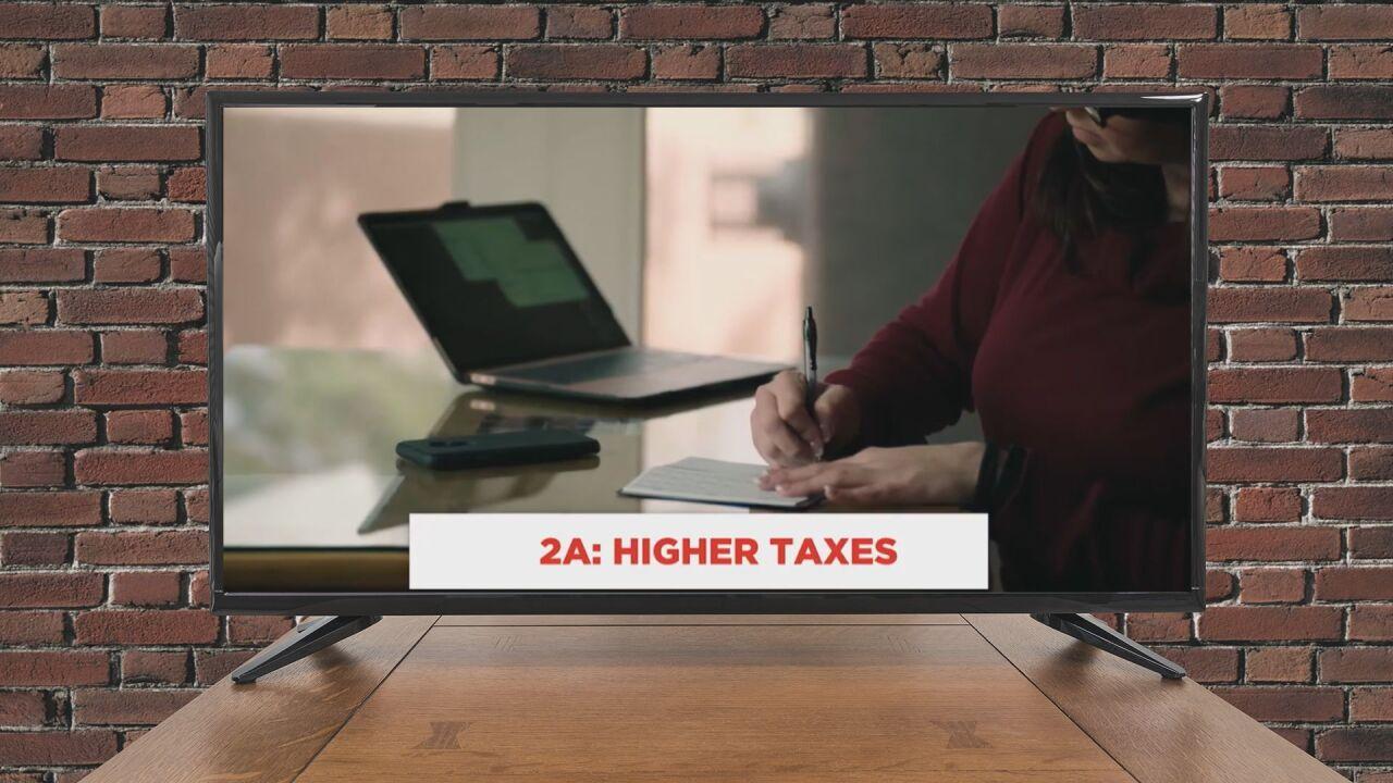 AD: Higher taxes