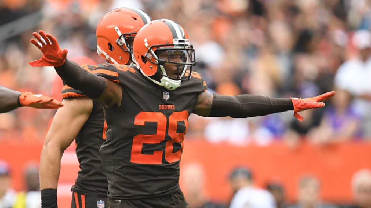 Browns missing CB Gaines vs. Bucs because of concussion