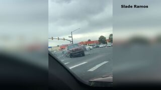 Police chase crash video still