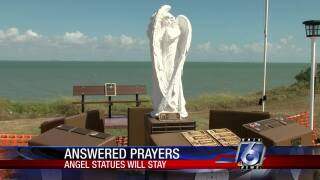 Angels statues will stay at Nueces County Crime Victims' Memorial