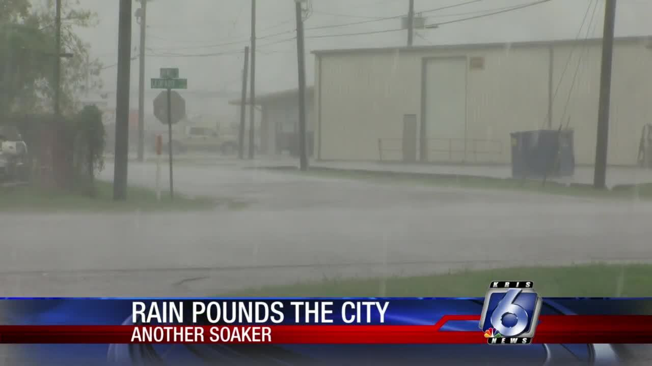 Rainy conditions douse parts of the Coastal Bend today
