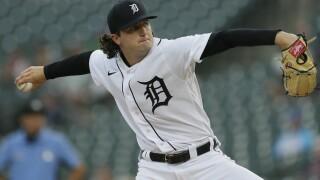 Casey Mize Rangers Tigers Baseball
