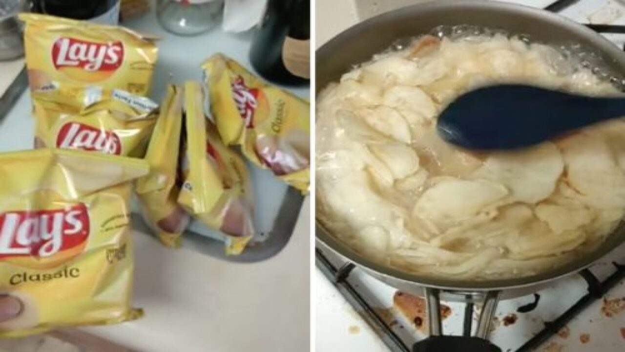 TikTok User Turned A Bag Of Potato Chips Into Mashed Potatoes