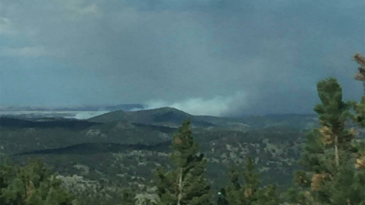 Starwood Fire burning in Larimer County, reverse