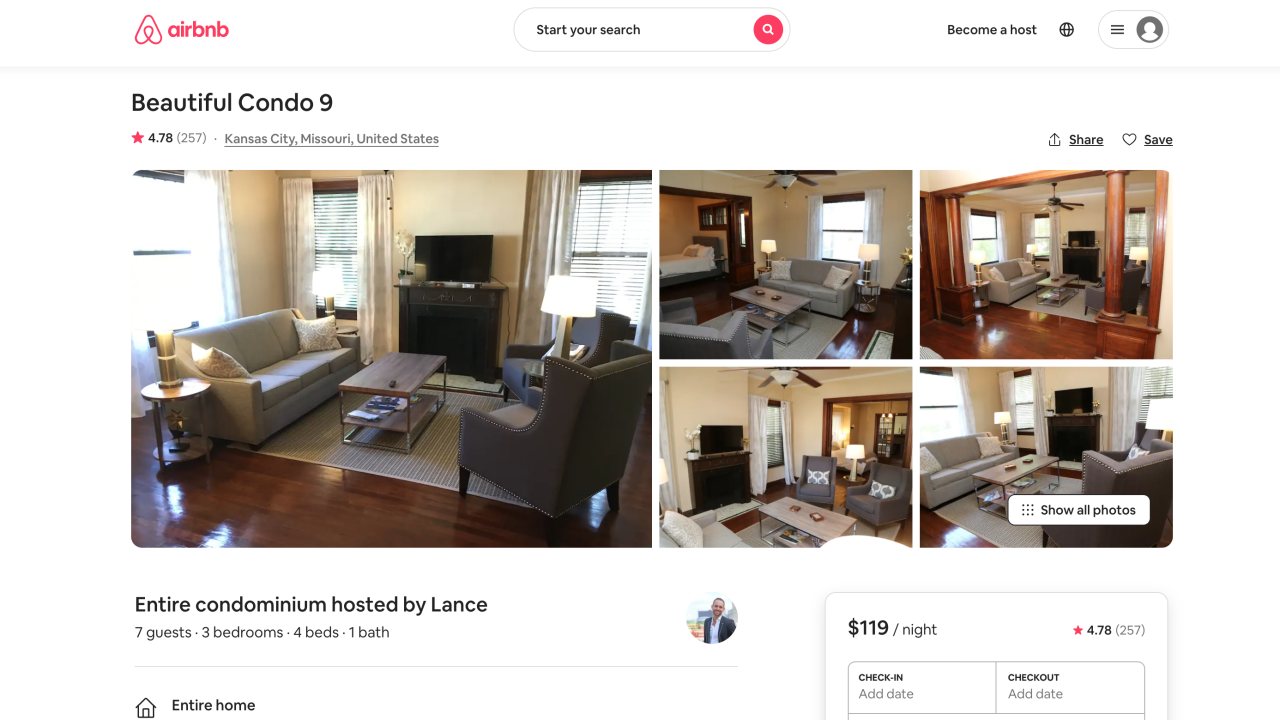 Pierce Airbnb listing