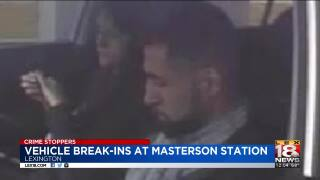 Crime Stoppers: Vehicle Break-Ins At Masterson Station