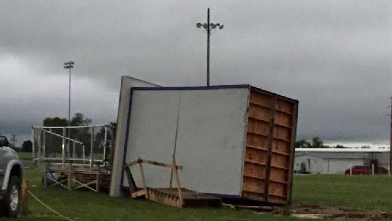 At least 1 injured following severe weather