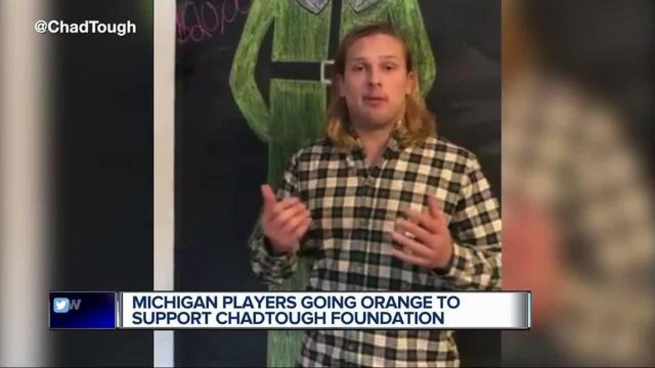 U-M's Winovich going orange to support ChadTough