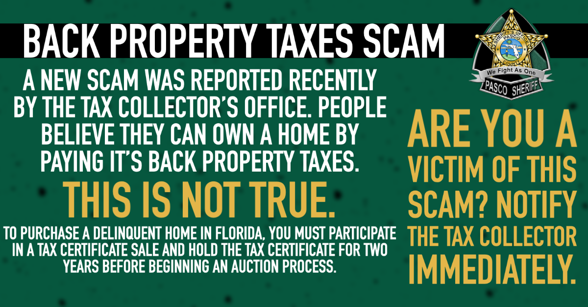 Back Property Taxes Scam