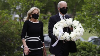 Trump, Biden engage on political debate over masks