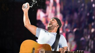 Country star Luke Bryan performs at Great American Ball Park