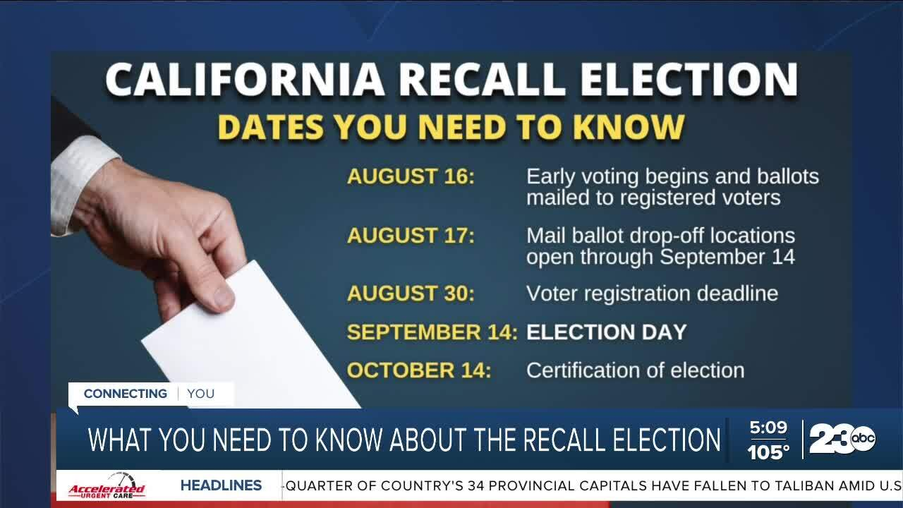 What you need to know for recall election August 11, 2021