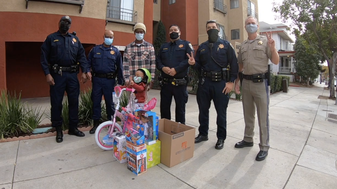 CHP gives gifts to girl