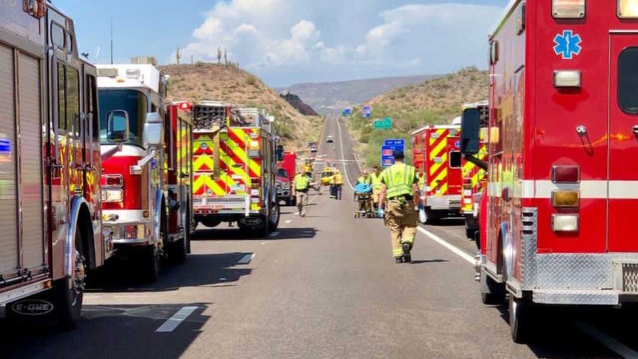 I-17 NB closed for wreck north of the Valley