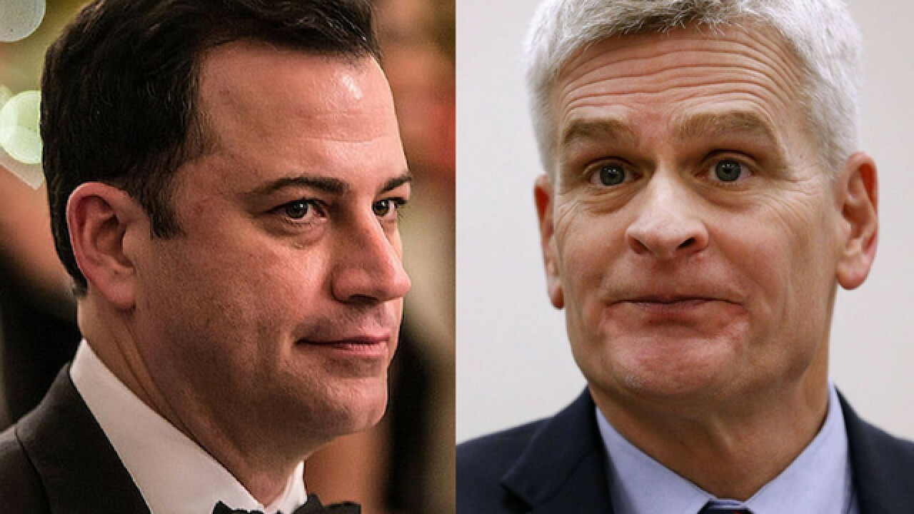Watch: Jimmy Kimmel says Sen. Bill Cassidy lied 'right to my face'