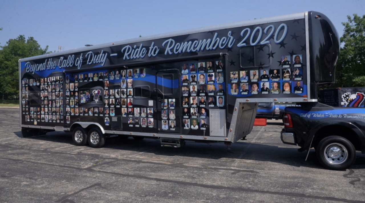 Beyond the Call of Duty Ride to Remember caravan