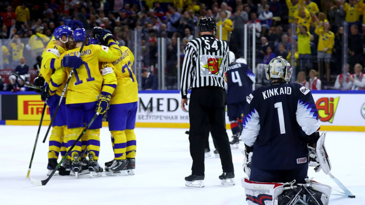 Sweden crushes United States in ice hockey semifinals
