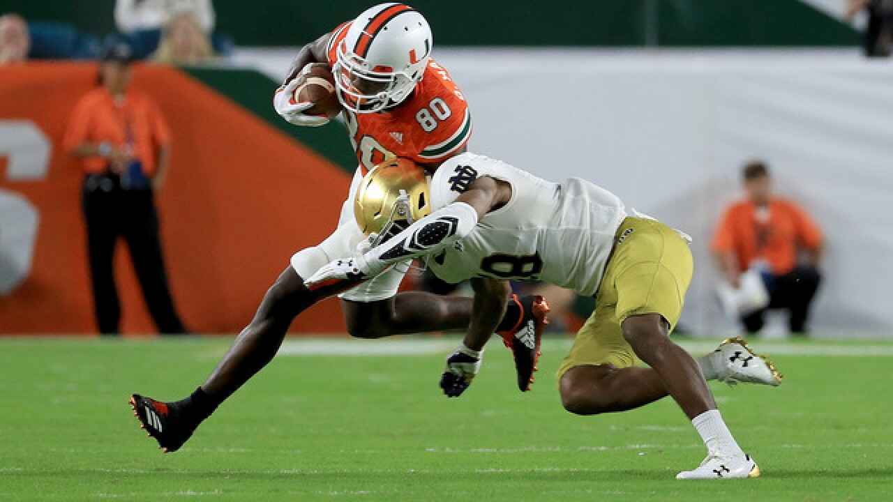 No. 7 Hurricanes roll No. 3 Irish, 41-8