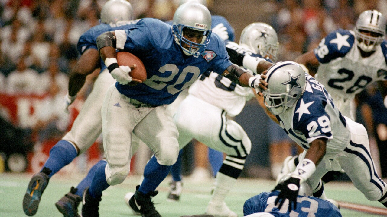 FILE Barry Sanders 1994 Lions Throwback Uniform