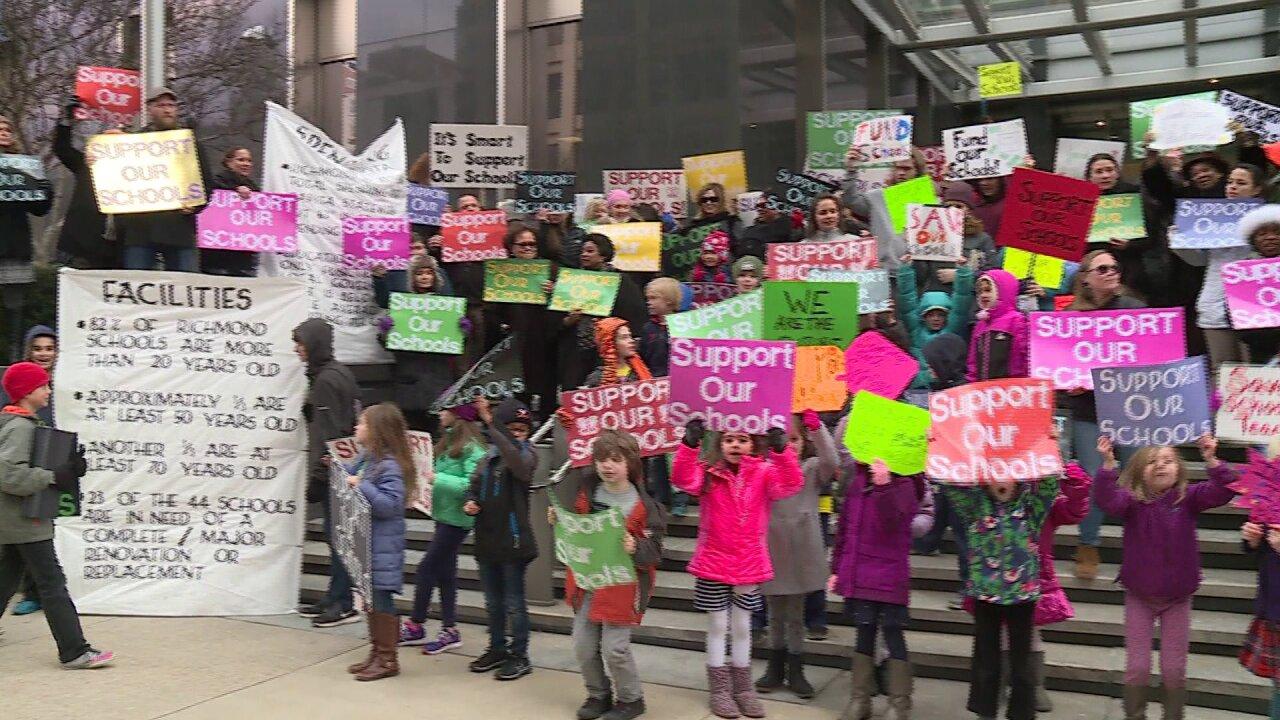Teachers, students demand more school funding at City Hallrally
