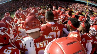 Chiefs huddle