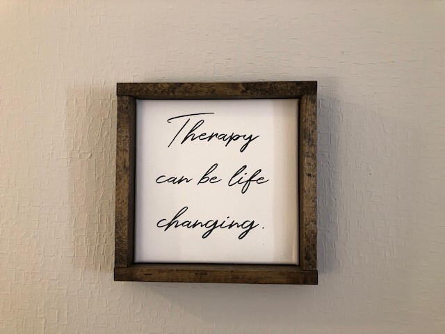 Sign in A New Leaf Therapy office.