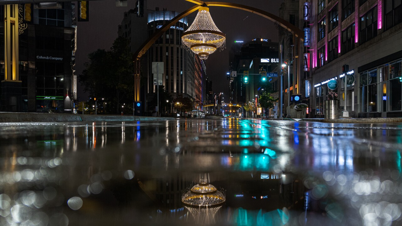 Empty Cleveland night
