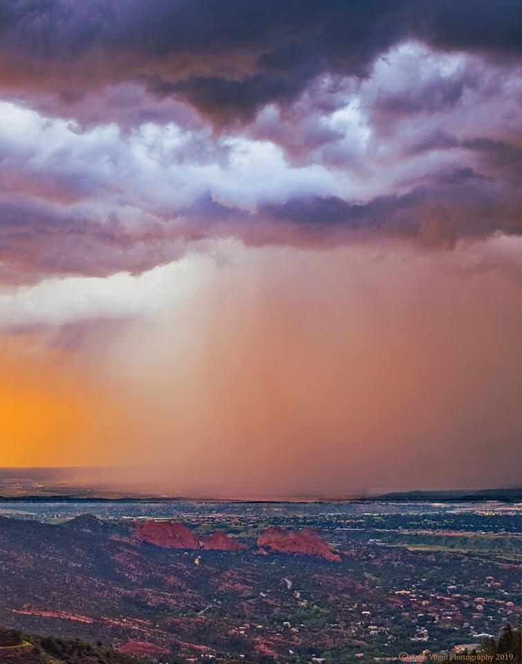 Rain over Garden of the Gods