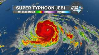 Super Typhoon Jebi most powerful storm on earth in 2018