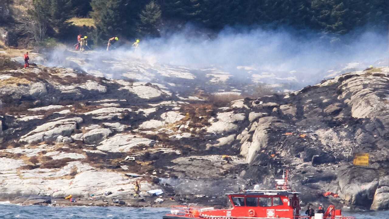 Multiple people dead in Norway helicopter crash