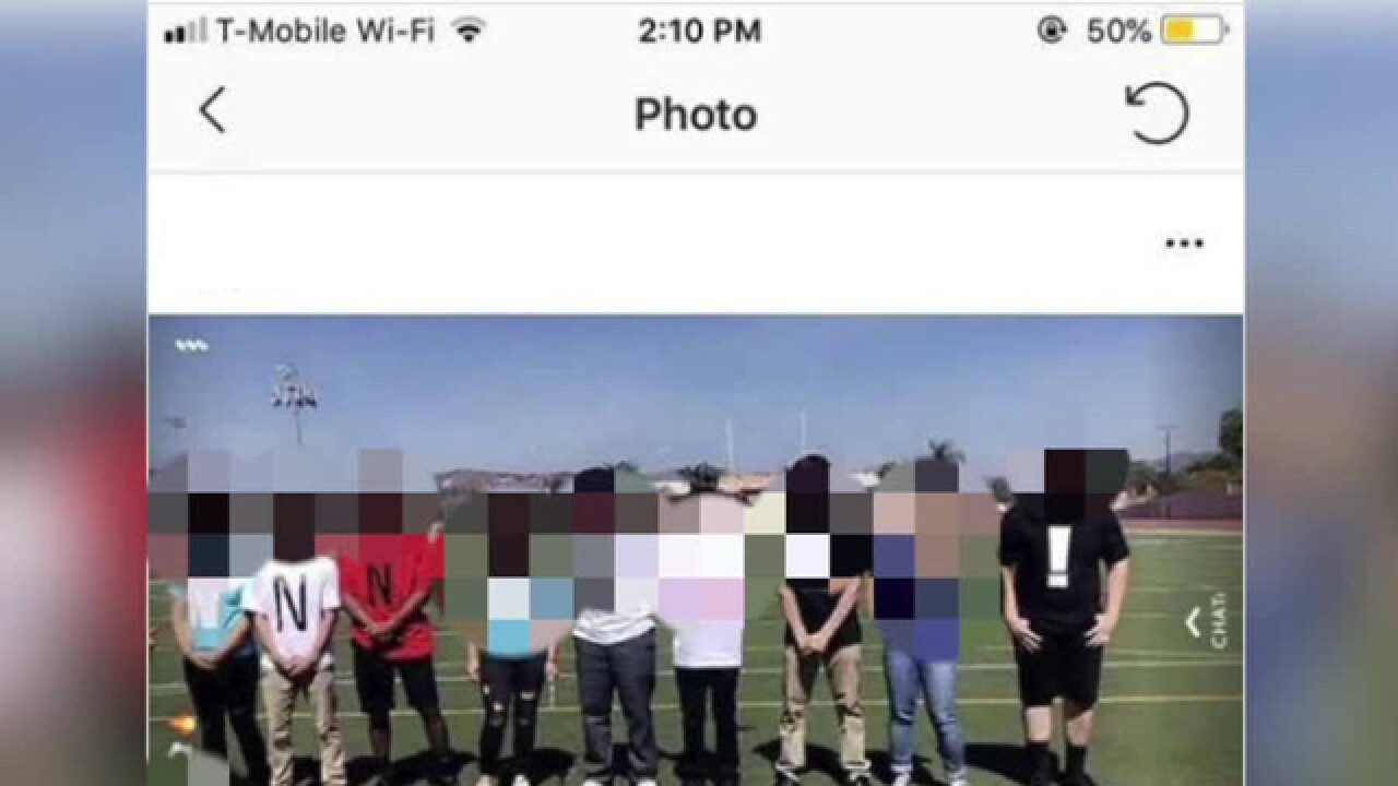 High school in California taking disciplinary action against students in photo showing racial slur
