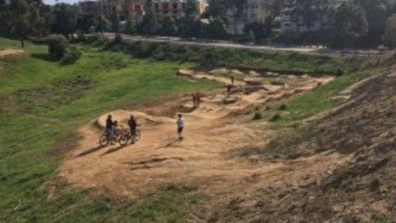 Makeshift bike track threatened with demolition
