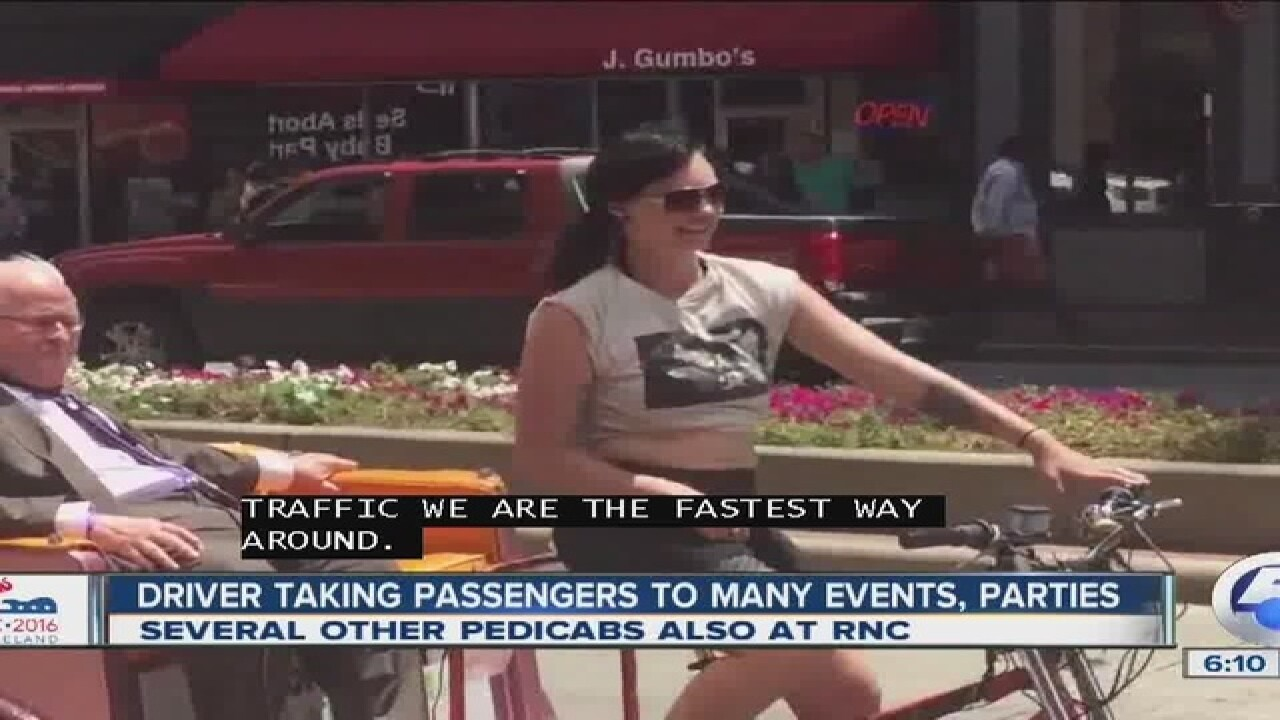 Out-of-towners making money at RNC