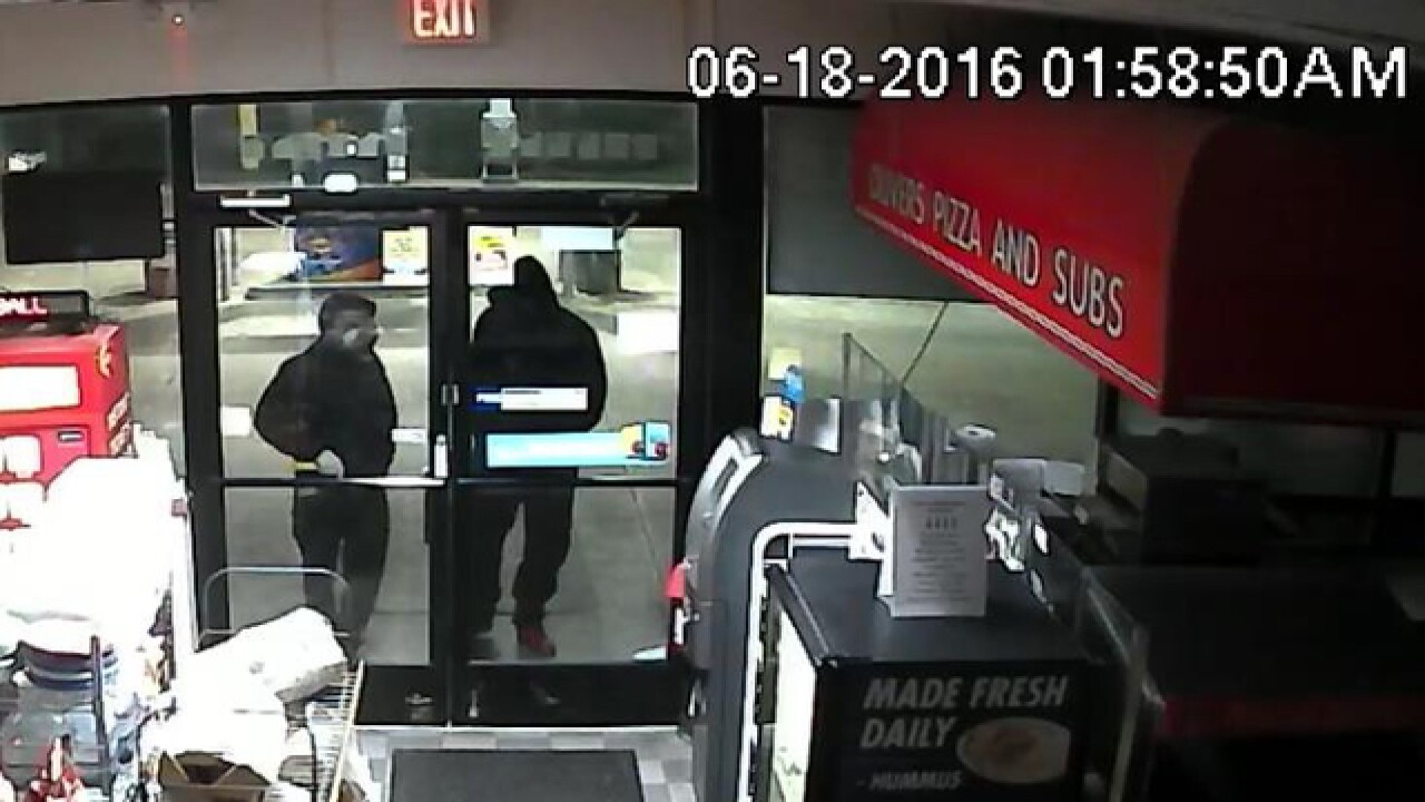 Police look for suspect after gas station robbed