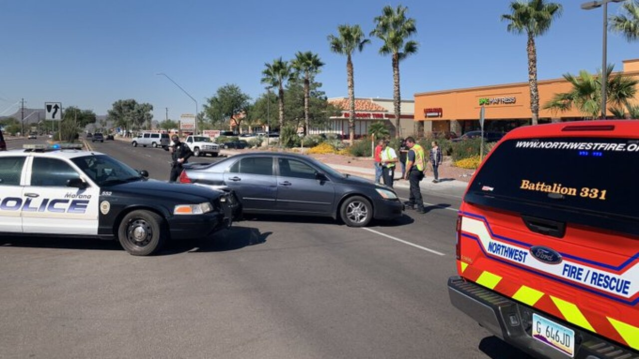 Marana police say a woman injured in a Wednesday wreck  has died.