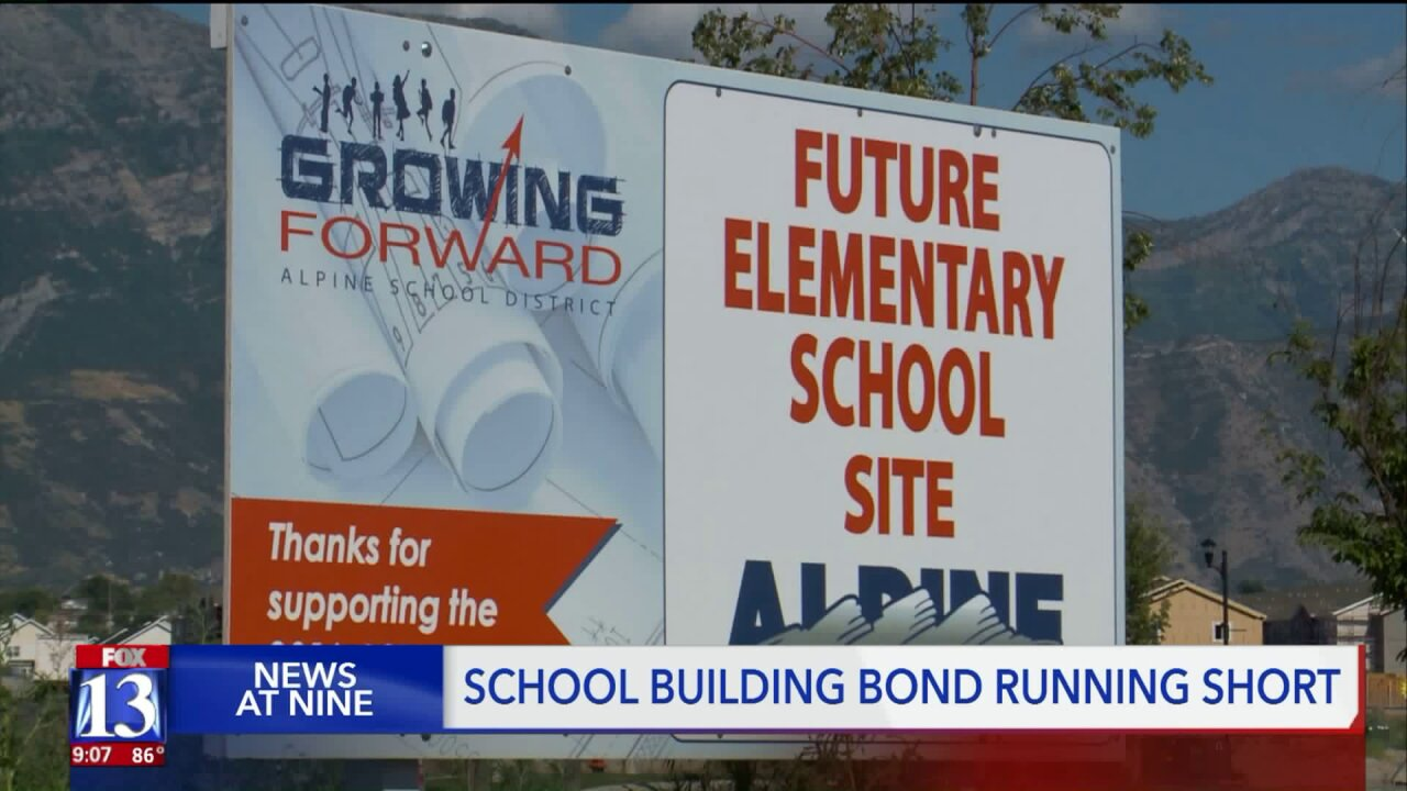 Alpine School District bond running short, jeopardizing construction projects
