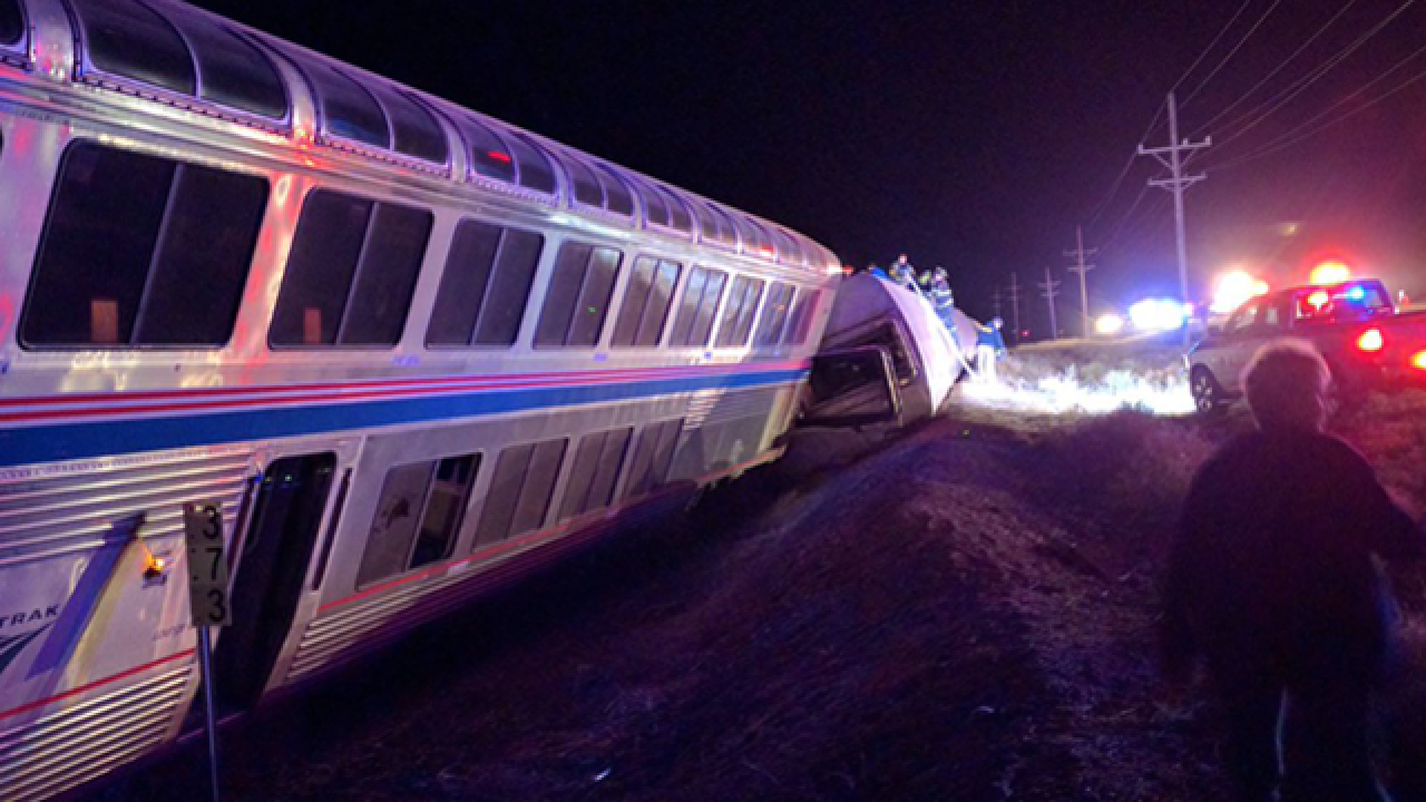 Amtrak train derails in southwest Kansas