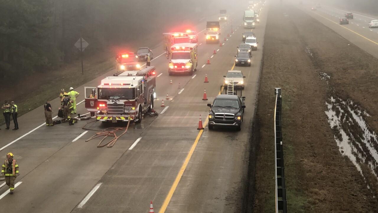 Interstate 295 truck fire