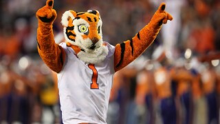 """SANTA CLARA, CA - JANUARY 07: The Clemson Tigers mascot """"the Tiger"""" is seen prior to the CFP National Championship against the Alabama Crimson Tide presented by AT&T at Levi's Stadium on January 7, 2019 in Santa Clara, California. (Photo by Sean M. Haffey)"""