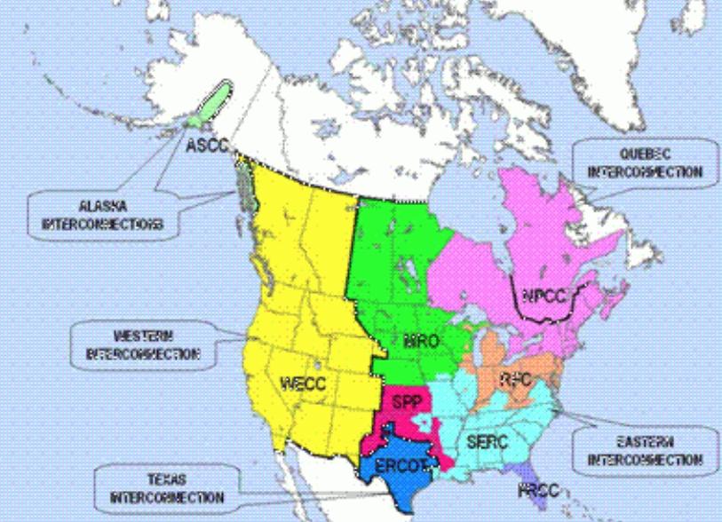 U.S. Energy Department Interconnection Grid