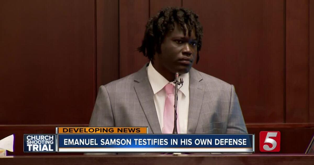 Emanuel Samson testifies in Antioch church shooting trial