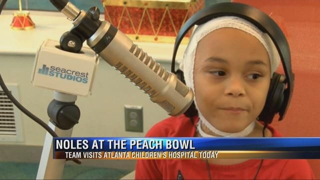Florida State Football Players Find A Real Georgia Peach