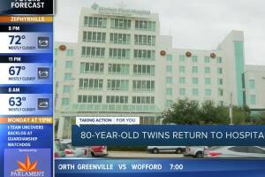 Twins return to Florida hospital where they made history 80 years ago