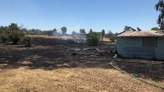 Outbuilding destroyed in structure fire in Paso Robles