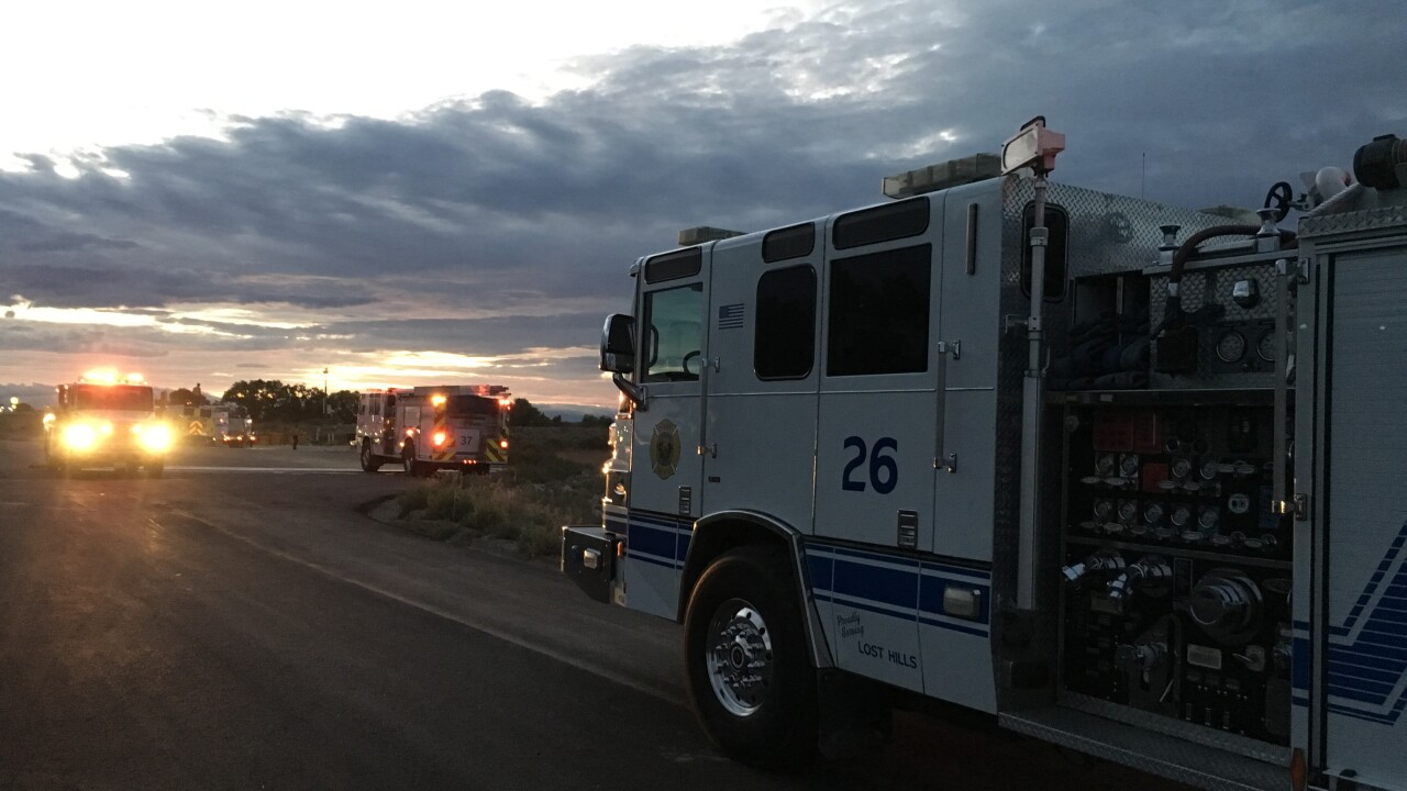 KCFD: Crash on I-5 ignites vegetation fire north of Lost